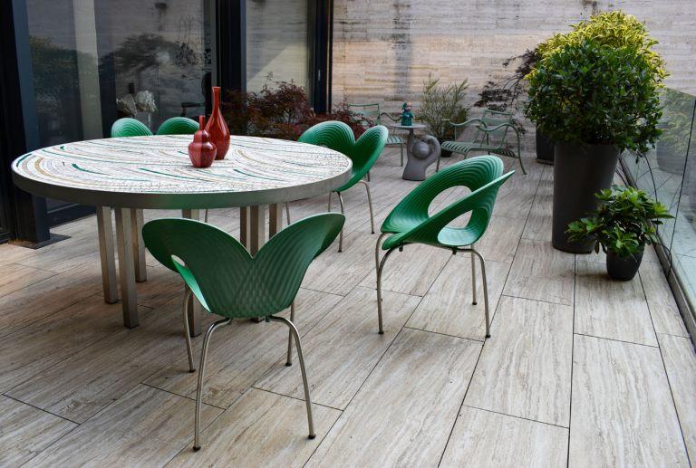 Cinzia terrazzo tavolo akomena