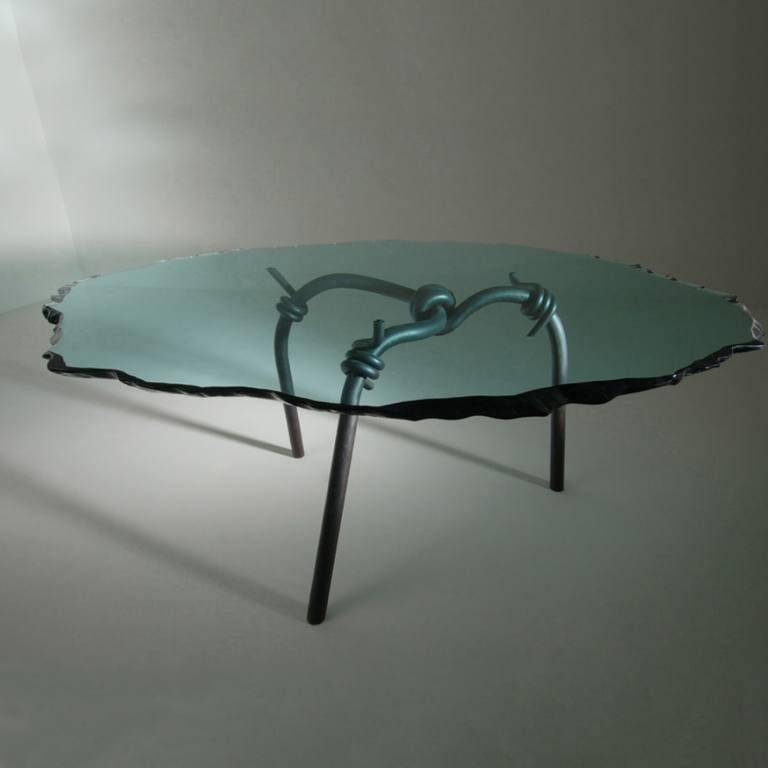 BARBED WIRE - tavolo Foto quadrato